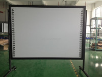 Wall Mounting interactive whiteboard with pens