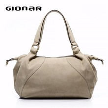 Top Layer Cow Leather Beige Color Fashion Women Handbags