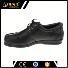 black PU injection anti-puncture nappa leather steel toe used in energy supply work safety shoes with CE certificated
