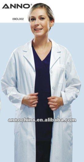 Médicale médecin blanc uniforme dame blouse de laboratoire