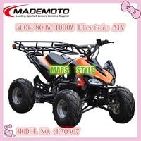 QWMOTO CE China 500W 800W 48V Off Road Mini Kids Quad bike 800W Mini Electric ATV 800W