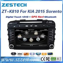Zestech car audio system with reverse camera for kia sorento 2015 autoradio best quality