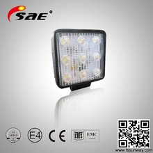 Hot sale auto off road 27w led work light for tucks suv jeep all vehicle use