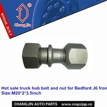 Hot sale truck hub bolt and nut for Bedford J6 front