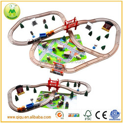 High End Nontoxic Eco-friendly 140pcs Wooden Train Track