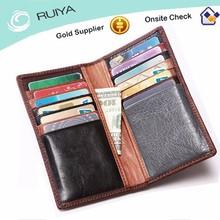 Wholesale Brand Men Vintage Genuine Leather Multipurpose Long Wallet With Card Holder