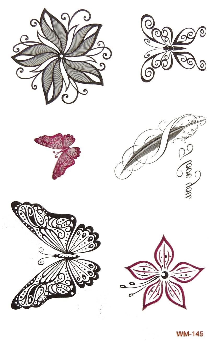 WM-145-flower-butterfly-tatoo-sticker-1