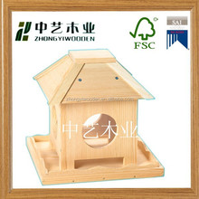 FSC&SA8000 Factory price Small Hanging Manufacturer Unfinished Decorated Eco-friendly Wooden Bird House for wholesale