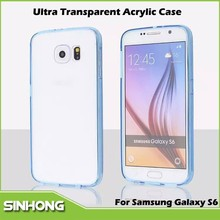 0.3mm Thickness Ultra Transparent Acrylic Phone Case For Samsung Galaxy S6