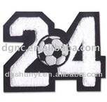 football number 24 embroidery design patch