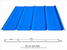 Corrugated roofing sheet material / roof building material ppgi prepainted color coated steel