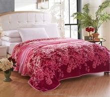 so soft beautiful flower design printed coral fleece blanket bed sheet