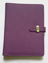 cheap a5 custom handmade loose leaf PU leather diary notebook portfolio