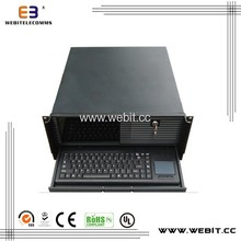 LCD pc case+steel cover 0.8mm thickness+LCD screen ATX box