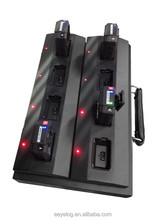 Professional 8 units simple police camera charging and docking station with software system