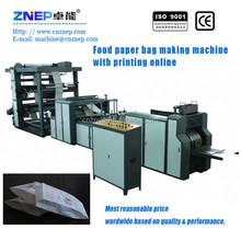 ZNYJ-300 CE Certificated Automatic High Speed KFC Food Paper Bag Making Machine