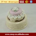 forma de bolo de casamento caixa de doces