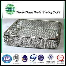 stainless steel mesh basket , serilization, healthy, no rust , corrosion proof