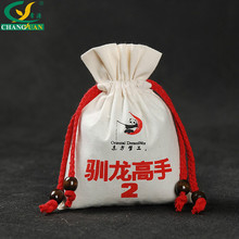 Cheap Custom Promotional Cotton Drawstring Bag Small Cotton Bags