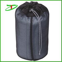 2015 promotion cheap nylon drawstring mesh bag, custom laundry bag for cloth
