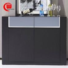 Sideboard modern minimalist grey mirror table meal tea storage lockers wood veneer small black sideboard paint dinner cabinet