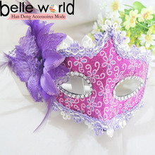2015 new beautiful flower decoration party face masks