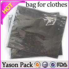 Yason folding custom made garment bag ziplock plastic bag for garment packing for children clothes