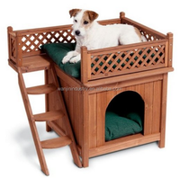2015 the most popular luxury solid wood style pet cat house cat kennel