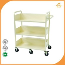 Steel ladder display book cart library sturdy and durable