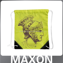 China supplier cartooon wholesale small polyester/cotton drawstring bag