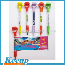 New design retractable scrolling message ballpoint pen with massage