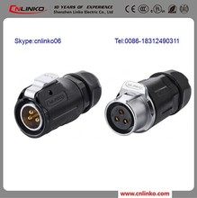 Power Connector IP67 3-Pin Male and Female Industrial AC Socket 12V DC Female Connector for LED