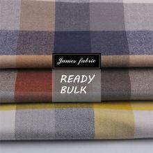 High quality Big color check Cotton tencel flannel shirt fabric