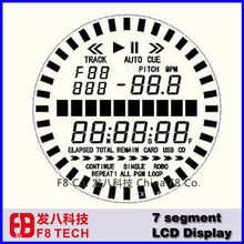 D100420A Factory price custom monochrome 7 segment round lcd display