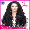 2015 New hair style 100%human hair lace wigs 22inch natural color super wave brazilian hair glueless full lace wig