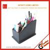 Plastic desktop pen holder foldable fabric storage box