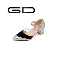 GD fashion romantic roman style retro vintage ankle strap elegant comfotable flat shoes for women