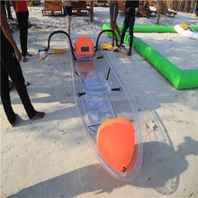 Factory supplier cheapest plastic kayak/transparent rowing boat/fishing boat made in China