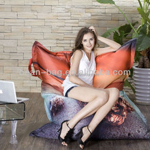 Hot Selling Home Decorative Living Room Furniture Printed Bean Bag Cushion Pillow Chair Or Sofa Bed