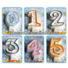 number candle with blister packing/magic birthday candle