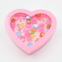 New Arrival HL-0216 Colorful Carton Character Finger Ring for Kids and Girls