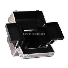 New Fashional High Quality Diamond Aluminum Cosmetic Case Portable Practical Storage Makeup Case