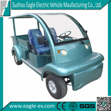 two seaters pure electric utility vehicles, long cargo bed and roof, EG6063KCX