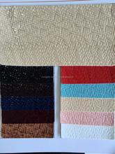 High Quality weave design Wenzhou factory PU leather
