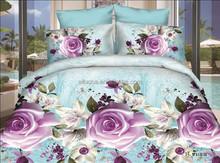 bright color bridal wedding queen size customized 3D bed sheet & duvet set