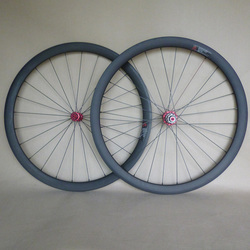 carbon wheels 38mm bicycle tubular wheelset R13 Hubs 24H front and 28H rear 700C