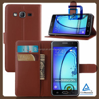 New arrival cell phone cover wallet leather with card slots stand flip for samsung galaxy on5 phone case china price