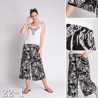 2015 latest european women fashion floral printed straight-leg pants wholesale
