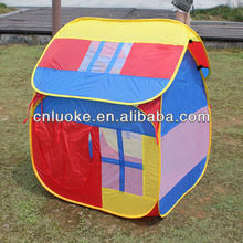small house colorful children play tents