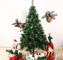Newest 1.5 m high-grade green pine needle tree, Christmas tree for Christmas gift
